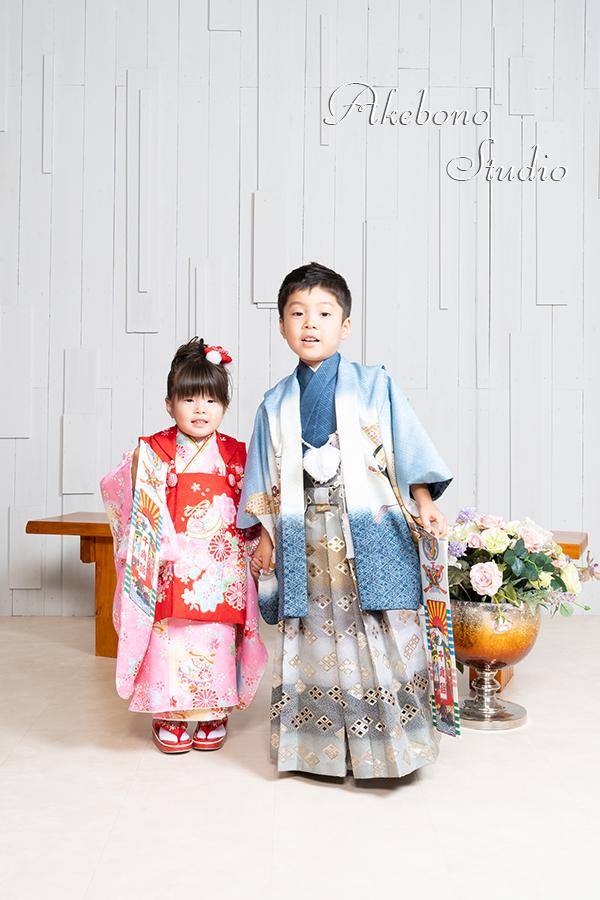 七五三前撮り撮影 奈良県奈良市/えいた君&ゆいかちゃん