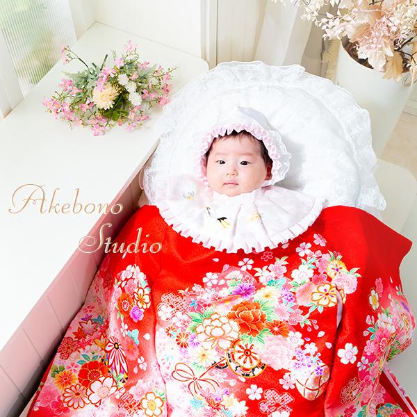 赤ちゃんお宮参り写真 奈良県大和郡山市